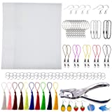 Terokota Shrink Plastic Sheet 157PCS Shrinky Art Film Paper Kits-15Pack Heat Shrink Sheets, 3MM Hole Punch, Keychains, Tassels, Ear Hooks, Claps for Kids Creative Craft & Jewelry Making (Tamaño: 157Pcs-14.5×20cm/W×H-Fine Grinding)