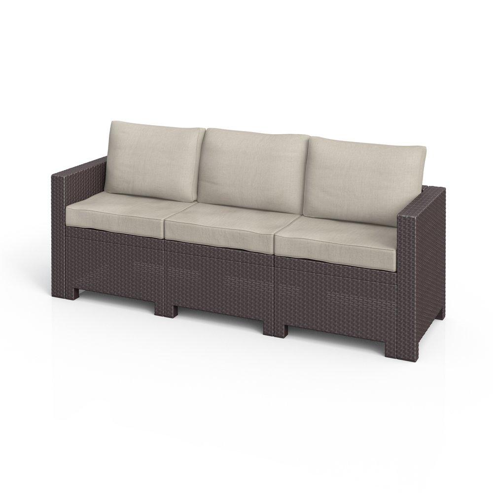 BICA Colorado 3-Sitzer Couch Poly Rattan Gartenmöbel Lounge Rattanoptik Sofa