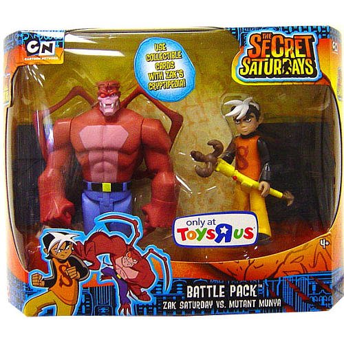 The Secret Saturdays Exclusive Battle Pack Zak Saturday vs. Mutant Munya