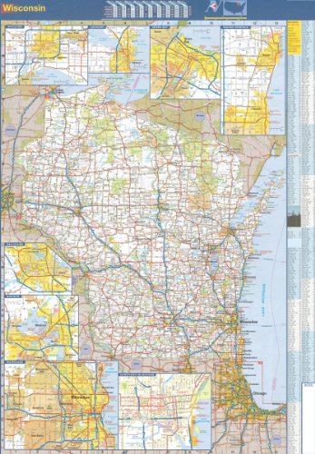 36x51 Wisconsin State Official Executive Laminated Wall Map