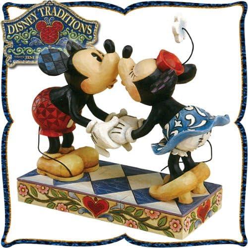 목각조 피규어 미키마우스와 미니 마우스의 깃신구  「미키와 미니의 키스」 (키스 해 사랑을 확인한다) Smooch For My Sweet...-