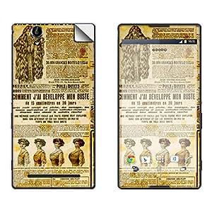 Skintice Designer Vinyl Skin Sticker for Sony Xperia T2 Ultra dual, Design - Paper