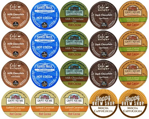 20-count TOP BRAND HOT COCOA K-Cup Variety Sampler Pack, Single-Serve Cups for Keurig Brewers (K Hot Chocolate Cups compare prices)