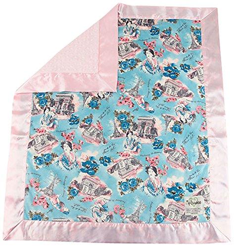 "My Blankee Paris Minky Pink w/ Minky Dot Pink Baby Blanket, 30"" x 35"""