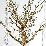 "BalsaCircle 30"" Manzanita Tree with Garlands for Wedding Centerpieces - Gold"