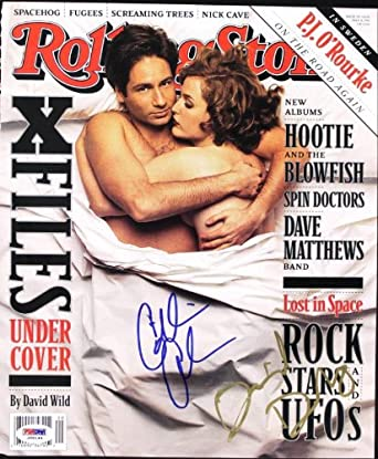 Gillian Anderson & David Duchovny Authentic Signed Rs Magazine ...
