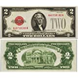 Series 1928 Big Red Seal ($2) Two Dollar U.S. Note Old Paper Money