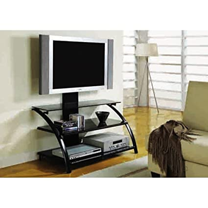 Monarch 42 in. TV Stand with Tempered Glass and Bracket
