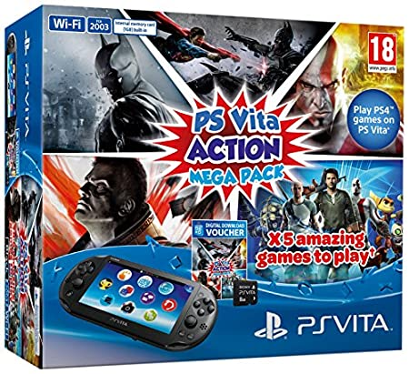 Sony PlayStation Vita Console Plus Action Mega Pack Plus 8GB Memory Card (PS Vita)