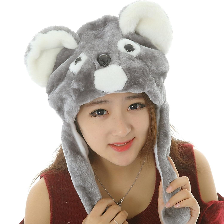 Lovely Animal Plush Warm Cap Koala Plush Animal Hat