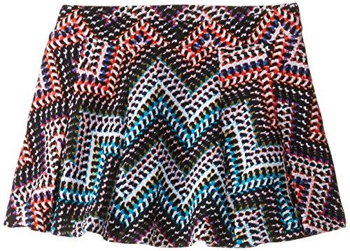 Jessica Simpson Little Girls' Selena Chevron Scuba Skater Skirt, Opal Multi, 3T