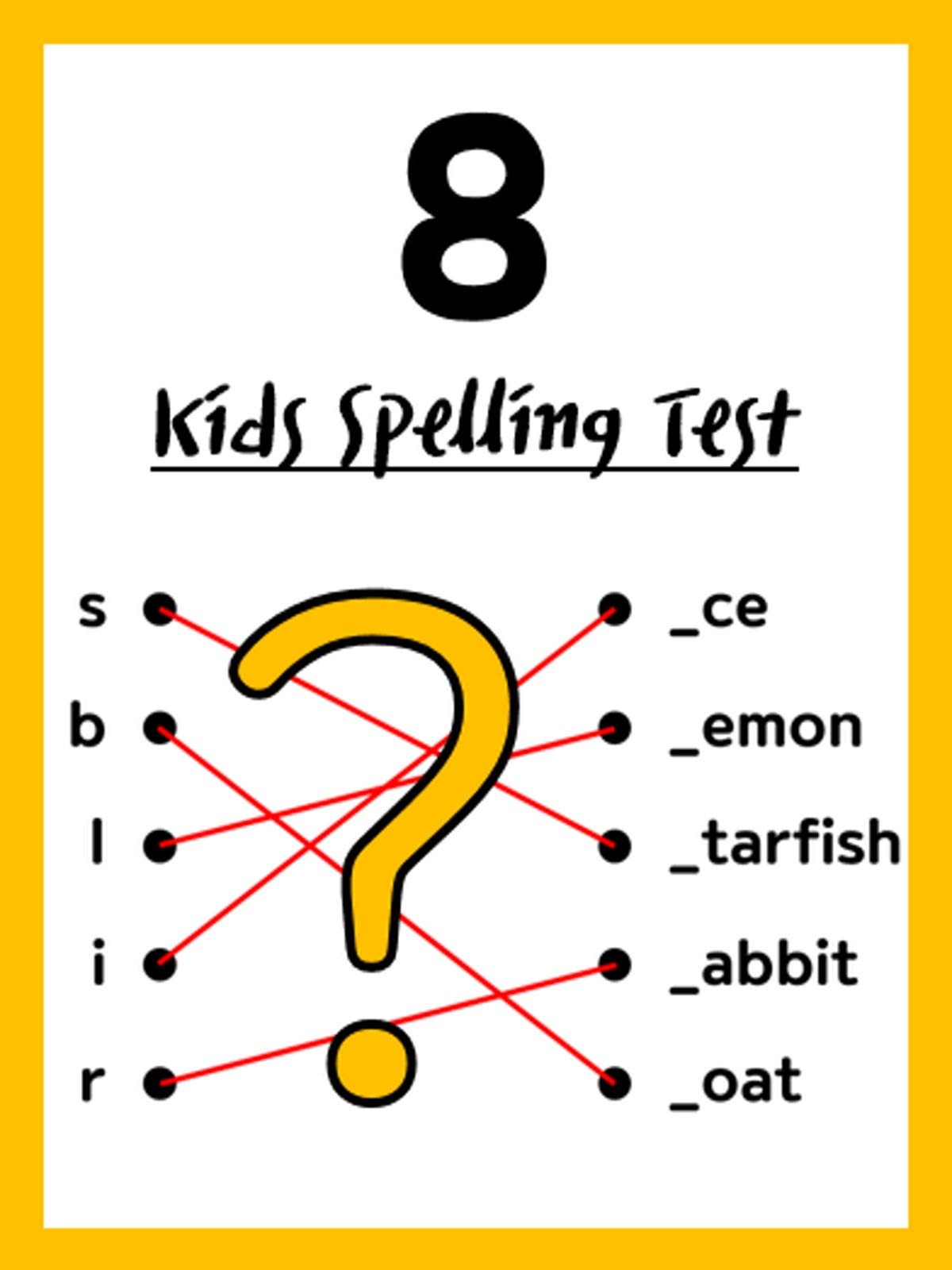 Kids Spelling Test 8