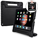 COOPER DYNAMO Shock Proof Kids case compatible with iPad Pro 12.9 | Heavy Duty Kidproof Cover for Kids | Girls, Boys, School | Kid Friendly Handle & Stand, Screen Protector | Apple A1584 A1652 (Black) (Color: Black, Tamaño: Apple iPad Pro 12.9)