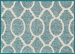 Loloi+Rugs Loloi Rugs TERCHTC20TEIV2539 Terrace Indoor/Outdoor Area Rug, 2-Feet 5-Inch by 3-Feet 9-Inch, Teal/Ivory