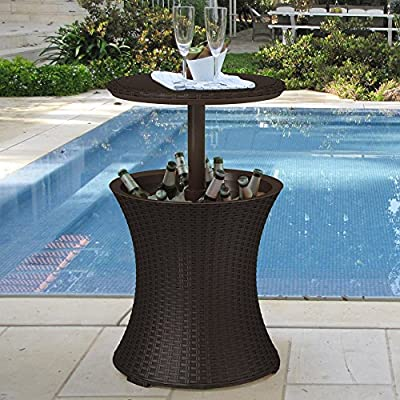 Keter Pacific Cool Bar Rattan Party Cooler