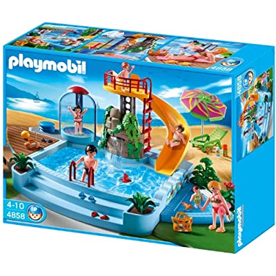 Amazon.com: Playmobil 4858 Open Air Pool with Slide