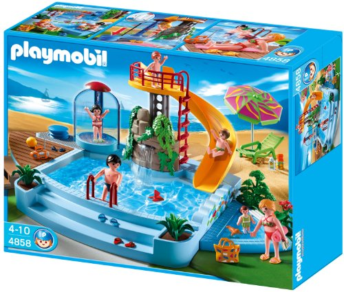 Playmobil 4858 Open Air Pool with Slide (Slide Pool compare prices)