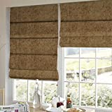 Presto Bazaar Brown Solid Velvet Window Blind (60 Inch X 44 Inch)