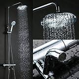 Kinse® Elegant Chrom Überkopf-Brauseset rain Duschsystem...