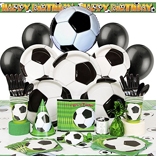Deluxe Soccer Party Supplies Kit for 8 (Birthday Supplies Soccer compare prices)