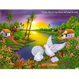 "Dolls Of India ""Peaceful Countryside"" Reprint On Paper - Unframed (29.21 X 22.86 Centimeters)"