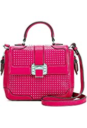 Rebecca Minkoff Women's Elle Mini Fucsia Leather Shoulder Bag