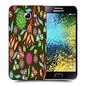 Snoogg Multicolor Petals Printed Protective Phone Back Case Cover ForSamsung Galaxy E5