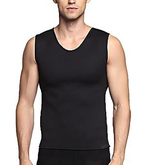 af261f5a57de6 SETENOW Men s Hot Sweat Body Shaper Tummy Fat Burner Tank Top Slimming Vest  Weight Loss Shapewear ...