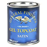 General Finishes Oil Based Gel Topcoat, 1 Pint, Satin (Color: Satin, Tamaño: 1 Pint)