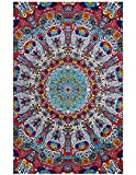 Sunshine Joy 3D Psychedelic Sunburst Tapestry Tablecloth Beach Sheet 60x90 Inches - Glow In The Dark