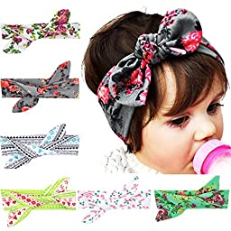 Quest Sweet 6 Pieces Baby\'s Headbands Girl\'s Headband Head Wear Flower (Good Quality)