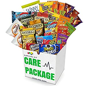Sweet and Salty Care Package | Stun Inc. | 43 PACK - College, Military, finals, road trip, pantry