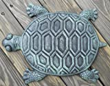 Iron Verdigris Garden Turtle Stepping Stone