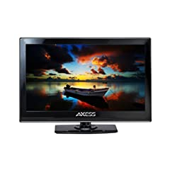 """Axess TV1701-15 15.4"""" LED AC/DC TV Full HD with HDMI and USB, ideal for home, office, cars, trucks, RVs and boats"""