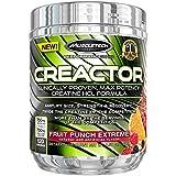 Creatina HCL en polvo MuscleTech Creactor de máxima potencia, 9.51 onzas, sabor ponche de frutas
