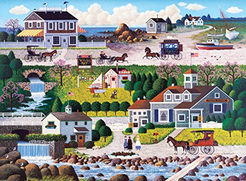 Buffalo Games Charles Wysocki: Cricket Hawk Harbor - 1000 Piece Jigsaw Puzzle by Buffalo Games