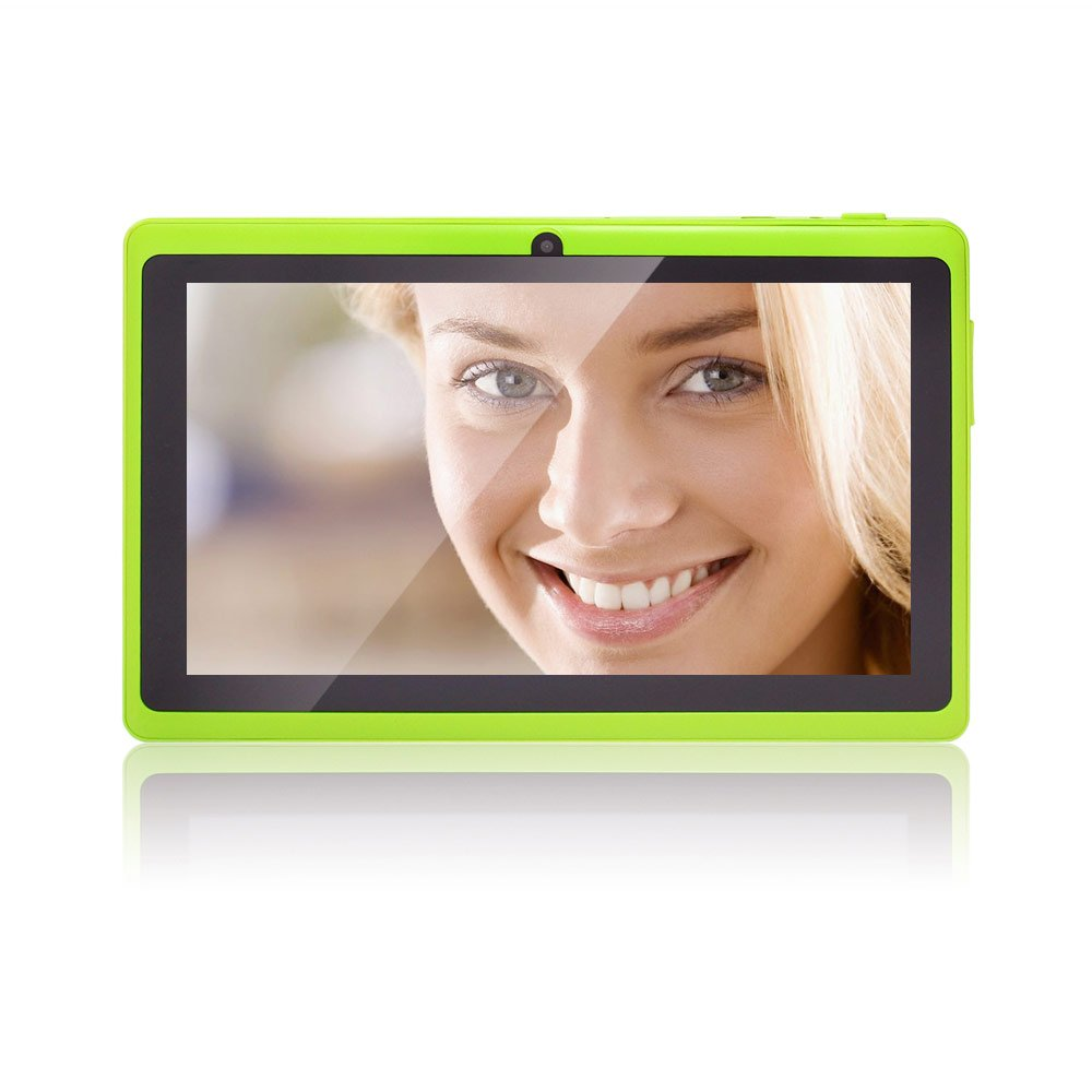 JINYJIA 7 Inch Android Google Tablet PC 4.2.2 8GB WiFi Dual Core Dual Camera Capacitive Touch Screen Allwinner A23 DDR3 1.5GHz 512MB Green Colorreviews