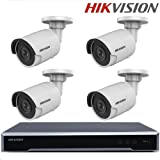 Hikvision Video Surveillance Kits NVR DS-7608NI-K2/8P Embedded Plug & Play 4K + DS-2CD2055FWD-I H.265 5MP IP Camera Surveillance Camera CCTV Camera + Seagate 2TB HDD (8 Channel + 4 Camera, 5MP)