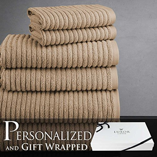 luxor-linens-hammam-collection-100-combed-extra-long-staple-egyptian-cotton-6-piece-towel-set-latte-