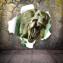 Ryuan 3D Vivid Dinosaur Wall Decor Sticker Home Decals for Kids Boys Bedroom 19.7 *19.7