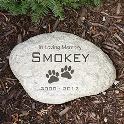 Personalized Pet Memorial Stone Small Size Durable Resin