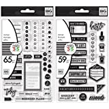 The Happy Planner Clear Stamps - Planner to Do and Planner Everyday Stamp Sets - 124 Stamps (Color: black, clear)