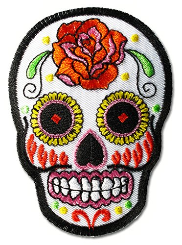 mexican-sugar-candy-flower-skull-roses-tattoos-psychobilly-biker-embroidered-iron-on-sew-on-patch-ba