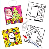Christmas Suncatcher Photo Frames (Pack of 6)
