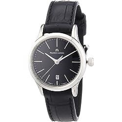 Maurice Lacroix Women's Les Classiques Black Leather Black Watch (MLACROIX-LC1026-SS001-330)