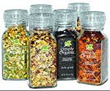 Simply Organic Whole Mixed Spices in Grinder Bottles--Package of 6
