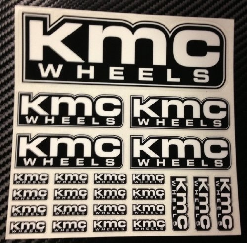KMC Wheels® Decal Sheet Officially Licensed RC Radio Control Stickers Authentic 24 Stickers per Sheet