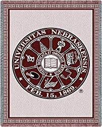 Univ of Nebraska Seal - 70 x 54 Blanket/Throw - Nebraska Cornhuskers