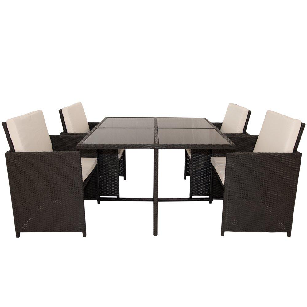 polyrattan essgruppe grenada xl schwarz bestellen. Black Bedroom Furniture Sets. Home Design Ideas