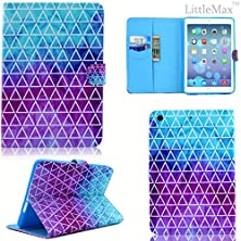 buy Ipad Air 2 Case,Littlemax(Tm) Leatherertte [Kickstand] Card Holder Protective Case Cover [Snug Fit] For Apple Ipad Air 2/Ipad 6 (9.7 Inch) [Free Cleaning Cloth,Stylus Pen]-Ink Triangle